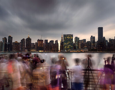 Matthew Pillsbury, 'Waiting for Manhattanhenge in Long Island City, July 11th (17077)', 2017