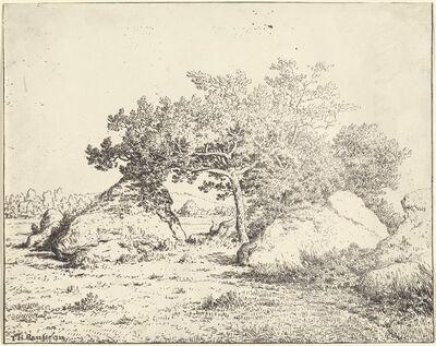 Théodore Rousseau, 'Le Cerisier de la Plante a Biau', 1855