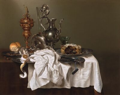Willem Claesz Heda, 'Still Life with a Fruit Pie', 1644