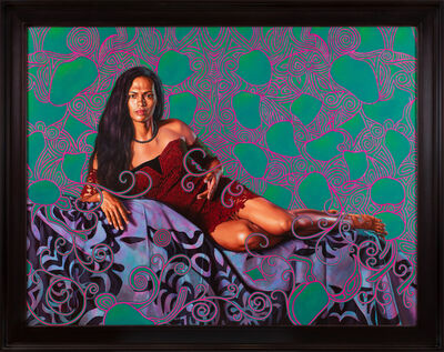 Kehinde Wiley, ' Portrait of Kea Loha Mahuta II', 2019