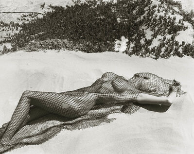 Herb Ritts, 'Brigitte Neilson with netting 2, Malibu', 1987