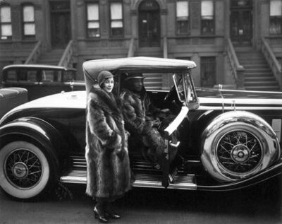 James Van Der Zee, 'Couple in Raccoon Coats', 1932