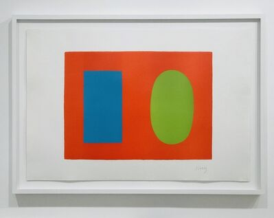 Ellsworth Kelly, 'Blue and Green over Orange', 1964