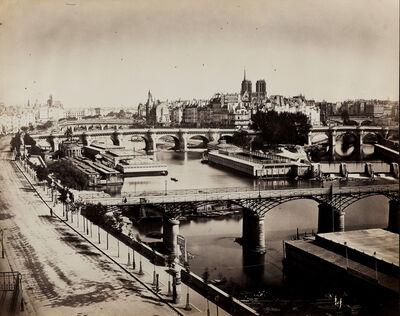 Gustave Le Gray, 'Pointe de l'Île de la Cité et la Seine au Vert-Galant, Paris', 1859
