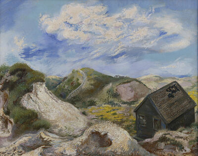 George Grosz, 'Landscape Cape Cod. House in the dunes', 1940