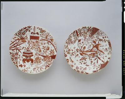 Unknown Artist, 'Pair of dinner plates; Ott & Brewer, Trenton', 1870