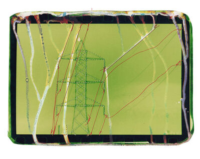 Andrew K. Thompson, 'Untitled (green powerlines with orange)', 2016