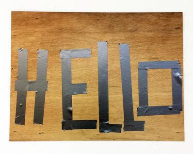 Jeff Feld, 'Hello', 2018