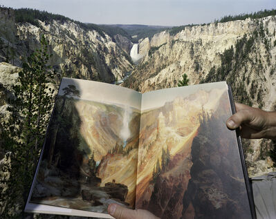 Mark Klett, 'Viewing Thomas Moran at the Source, Artist's Point, Yellowstone, 8/3/00', 2000