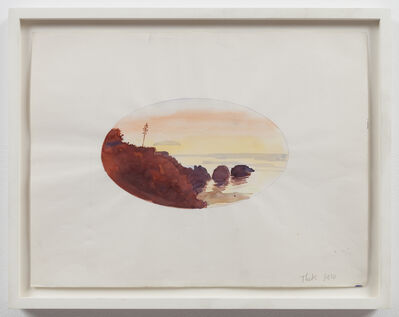 Paul Thek, 'Untitled (oval sunset)', 1970