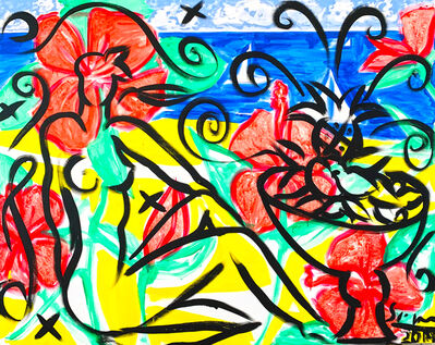 Stefan Szczesny, 'Flowers on the Beach', 2019