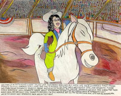 Carlo Daleo, 'Mia Greene and Dynamite the Great White Stallion at the Pensacola Rodeo', 2019