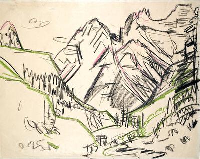 Ernst Ludwig Kirchner, 'Berglandschaft (Sertigtal) (Mountain Landscape)', 1923