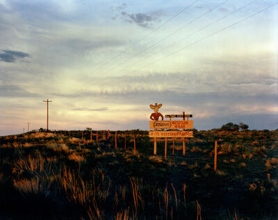 Steve Fitch, 'Sign on I-40 West of Tucumcari, New Mexico, July, 1990'
