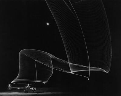 Andreas Feininger, 'Navy helicopter or Pattern Made by Helicopter Wing Lights, Anacostia, MD', 1949