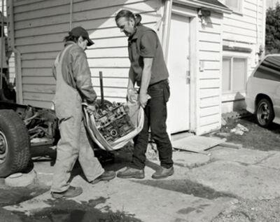 Jeff Wall, 'Men Move an Engine Block', 2008