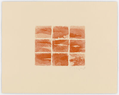 William Tillyer, 'The Flatford Chart Etchings 2. Sunset Orange', 2010