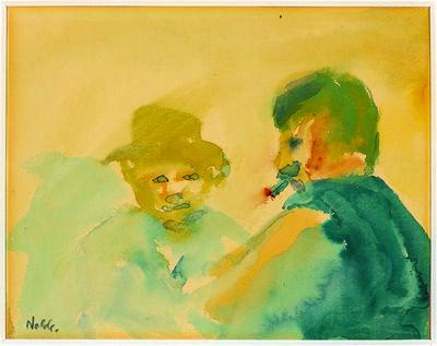 Emil Nolde, 'Zwei Männer im Gespräch (Two Men In Conversation)', 1908