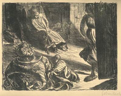 Ernst Barlach, 'Der Arme Vetter: Die Zudringliche (The Poor Cousin: The Obtrusive One)', 1919