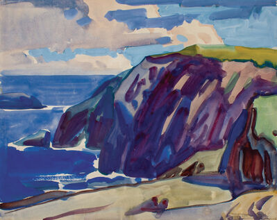 Frank Wilcox, 'Cliff at Paramé, France', ca. 1926