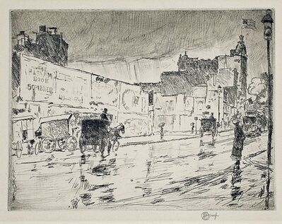 Childe Hassam, 'The Billboards, New York', 1916