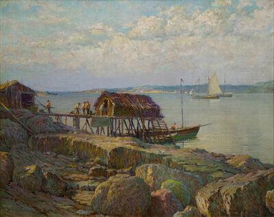 William Partridge Burpee, 'Newfoundland Fish Wharf', 19th -20th Century