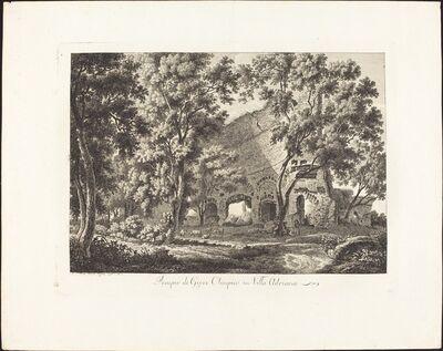 Albert Christoph Dies, 'Tempio di Giove Olimpico in Villa Adriana', 1795