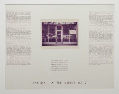 Brian O'Doherty, 'Past, Present, Future: Portrait of the artist Aet. 7,', 1967