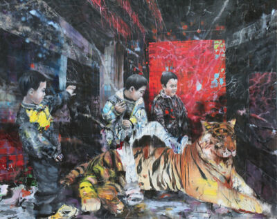 Li Tianbing, 'Frapper le tigre ', 2019