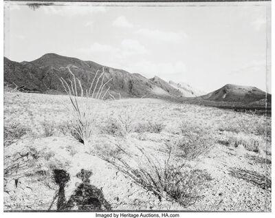 Mark Klett, 'Standing Before the Solitario Mountains, Fresno City, Texas'