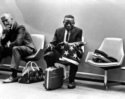 Harry Benson, 'Grieving Man with Flag, Washington DC', 1971