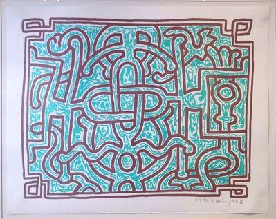 Keith Haring, 'Chocolate Buddha #5', 1989