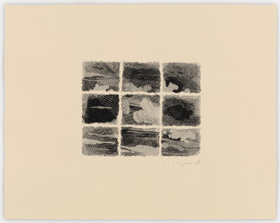 William Tillyer, 'The Flatford Chart Etchings 3. Black Day', 2010