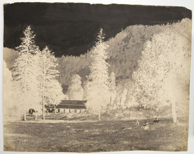 Dr. John Murray, 'Nainital, view of house in forest'