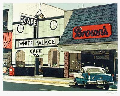 John Baeder, 'White Palace Cafe', 1980