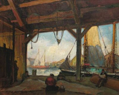 George Williams, 'Boatyard, Kennebunkport'