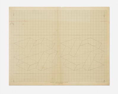 Josef Albers, 'Study / Sketch for a Structural Constellation', ca. 1969