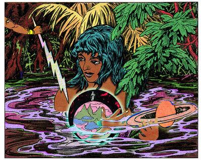 Chitra Ganesh, 'Girl, Water, Globe ', 2017