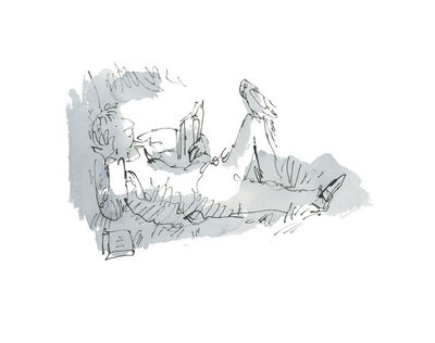 Quentin Blake, 'An Anthology of Readers, Dedicated Readers #12', 2019