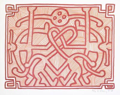 Keith Haring, 'Keith Haring, Chocolate Buddah 1- 5', 1989