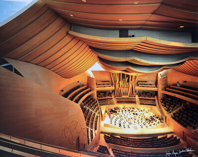 Julius Shulman, 'Disney Concert Hall, Julius Shulman / Juergen Nogai. Frank Gehry Architect. Los Angeles, California.  Signed by Julius Shulman', 2003