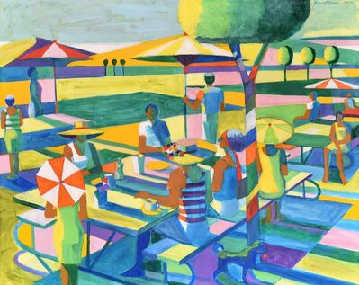 Roland Petersen, 'Picnic with four Umbrellas', 2020