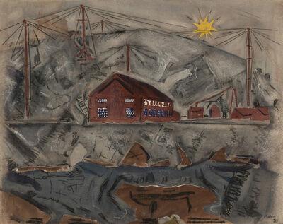 John Marin, 'Crotch Island Quarry, Off Deer Isle, Maine', 1920