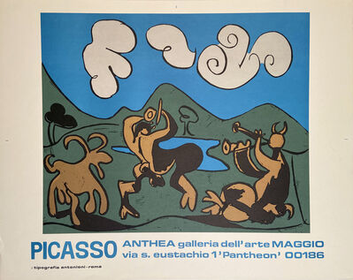 Pablo Picasso, 'Picasso, Anthea Galleria dell'arte Marzo Poster, HOLIDAY SALE TAKE 20% OFF NEXT THREE WEEKS', 1972