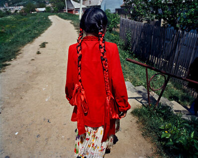 Joakim Eskildsen, 'The Long Plaits, Tirnaveni , Romania ', 2000