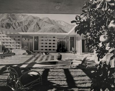 Julius Shulman, 'Palm Springs House with Mountains', 1950s
