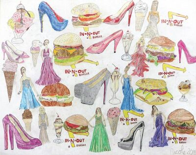 Nicole Appel, 'Hamburgers, Heels, and Dresses', 2014