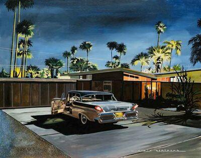 Alain Bertrand, 'Palm Springs at Night', 2020