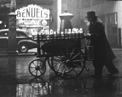 Wolfgang Suschitzky, 'London, Charing Cross Rd., (Man with milk cart', 1936