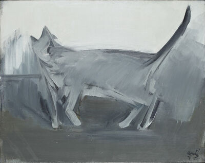 fermin aguayo, 'The grey cat (tail almost vertical)', 1967